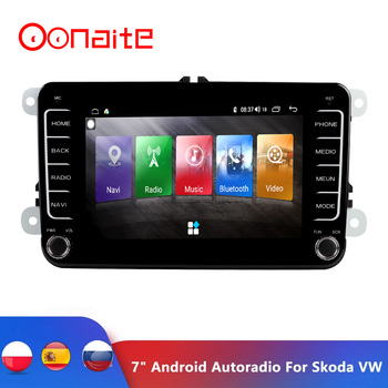 7 Android Car Multimedia player 2 Din WIFI GPS Navigation Autoradio For Skoda VW Passat B6 Polo Golf 4 5 Touran Seat FM image
