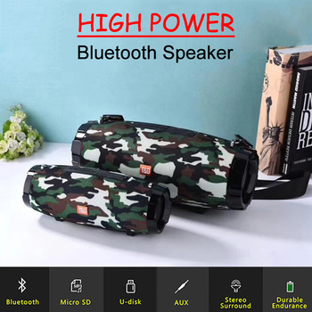 Portable Bluetooth Speaker High-power Waterproof Subwoofer Outdoors Wireless Speaker With FM Radio Boombox TF Card Soundbar image