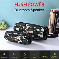 Portable Bluetooth Speaker High power Waterproof Subwoofer Outdoors Wireless Speaker With FM Radio Boombox TF Card Soundbar