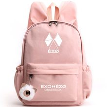 EXO Regular 6 Six Series Rabbit Ears Shoulder Bag Korean Middle School Students Large Capacity Bag Outdoor Travel Backpack Women(China)