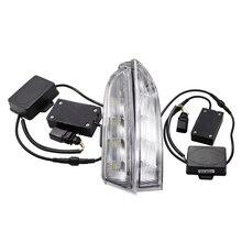 12 فولت DRL ل Volkswagen VW Scirocco R 2010 2011 2012 2013 2014 LEDDaytime تشغيل ضوء النهار مصباح الضباب