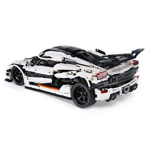 Image 3 - Lepining 23002 Technic samochody zabawkowe kompatybilne z MOC 10574 Koenigseggs uniwersalny samochodowy Model klocki klocki dla dzieci prezenty świąteczne