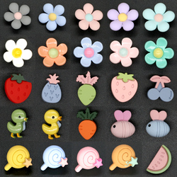 Baby Children Cute Decorative Buttons for Needlework Crafts Plastic Animal Flower Button on Clothes Christmas Handmade 10pcs