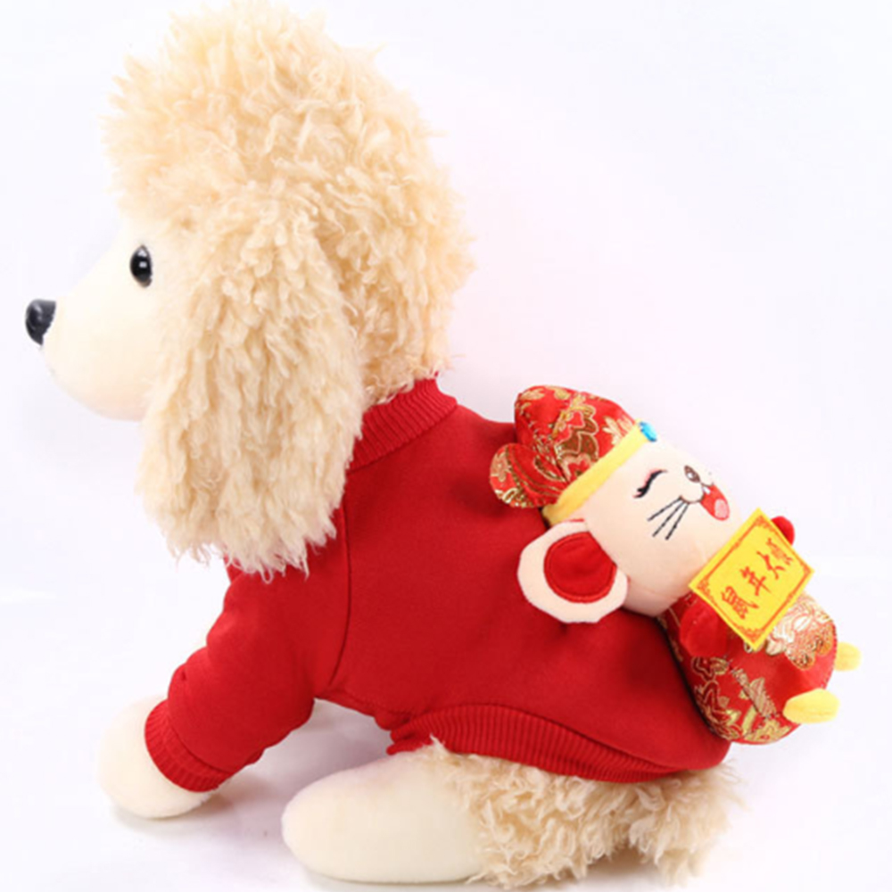 Winter Warm Pet Dog Christmas Coat New Year's Clothes Puppy Cat Jackets Pet Supplies