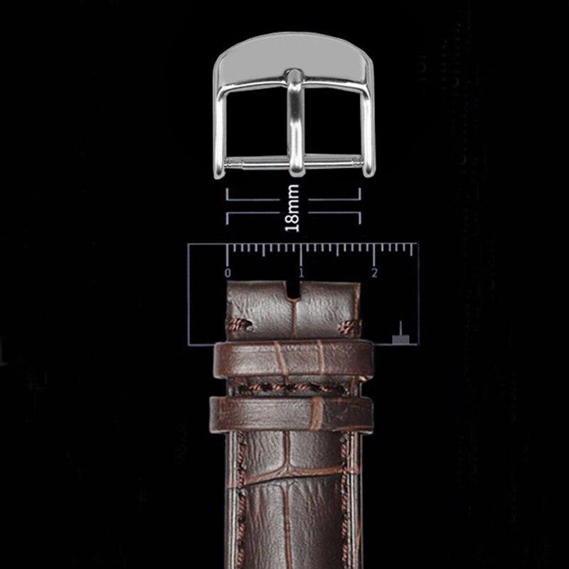 Пряжка для часов, Пряжка из нержавеющей стали 16 мм, 18 мм, 20 мм, 22 мм, кожаный ремешок, пряжка, аксессуары для часов