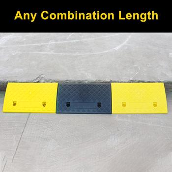 Portable Lightweight Curb Ramps Heavy Duty PVC Plastic Threshold Ramp Mat Car Truck Motorcycle Wheelchair 12-15cm Height Steps image