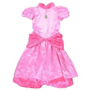 Image 3 - נסיכה קטנה אפרסק תלבושות סופר מריו אחים נסיכת קוספליי קלאסי משחק מריו תלבושות ילדים ילדה ליל כל הקדושים תחפושת