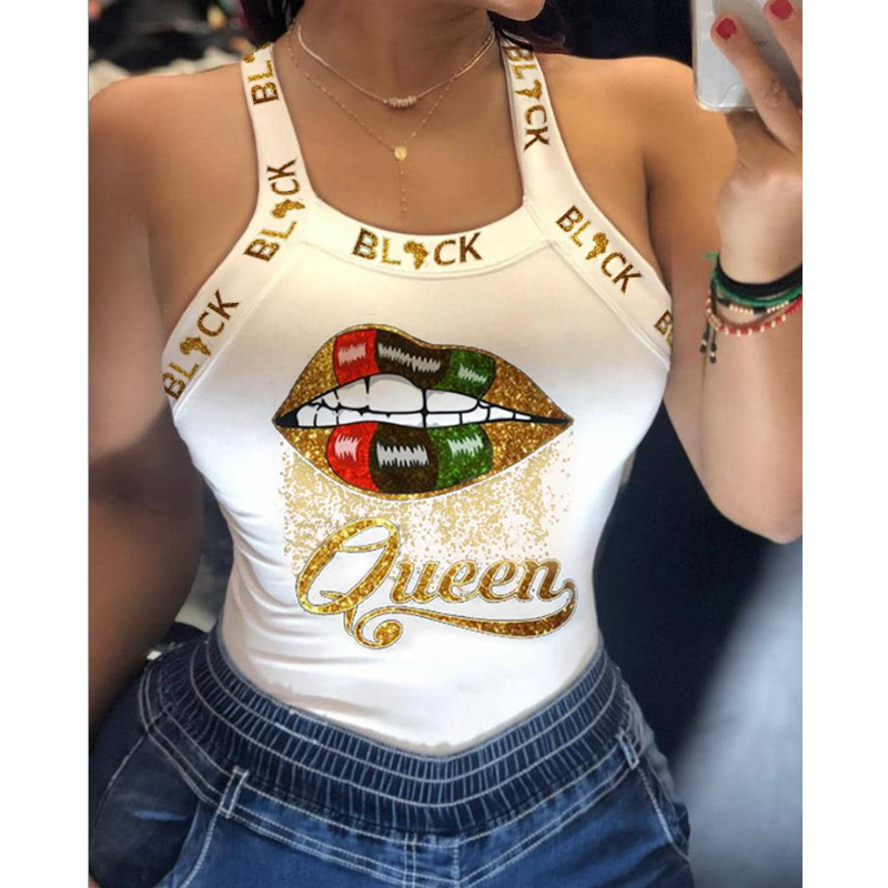 Elegant Women Backless Poker Spades Q Print Blouse Shirt 2020 Autumn Sexy Sleeveless Bowknot Top Ladies New Fashion Straps Blusa 7