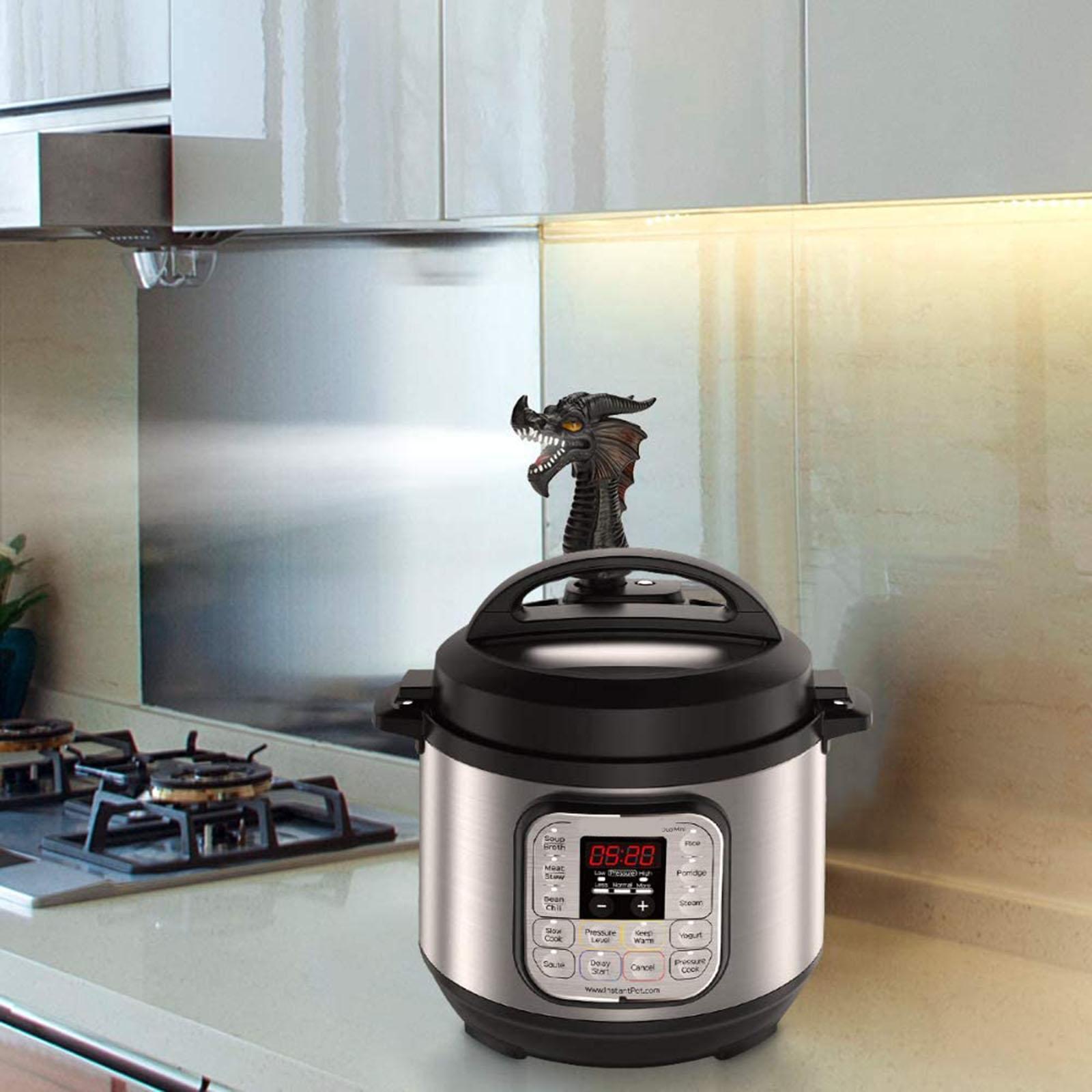2PCS red Fire-Breathing Dragon Original Steam Release Accessory Steam Diverter for Pot Pressure Cooker Kitchen Supplies