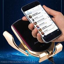 R2 10 Вт Инфракрасный Авто зажим Быстрая зарядка беспроводной автомобильное зарядное устройство Автомобильный держатель для телефона крепление для iPhone huawei samsung s9 Smart sensor