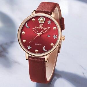 Image 1 - New NAVIFORCE Women Luxury Brand Watch Simple Quartz Lady Waterproof Wristwatch Female Fashion Casual Watches Clock reloj mujer