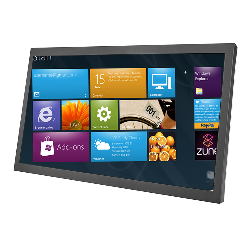 17 zoll 16:9 breite resistive touch screen-monitor mit AV/BNC/VGA/HDMI/USB interface
