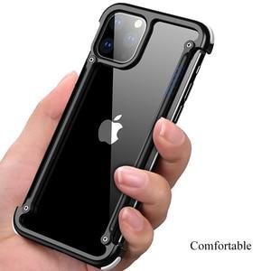 Image 2 - Funda de teléfono para Iphone 11 11pro 11pro max, bolsa de aire de lujo con marco de Metal, a prueba de golpes, original, Bumper Back Bover