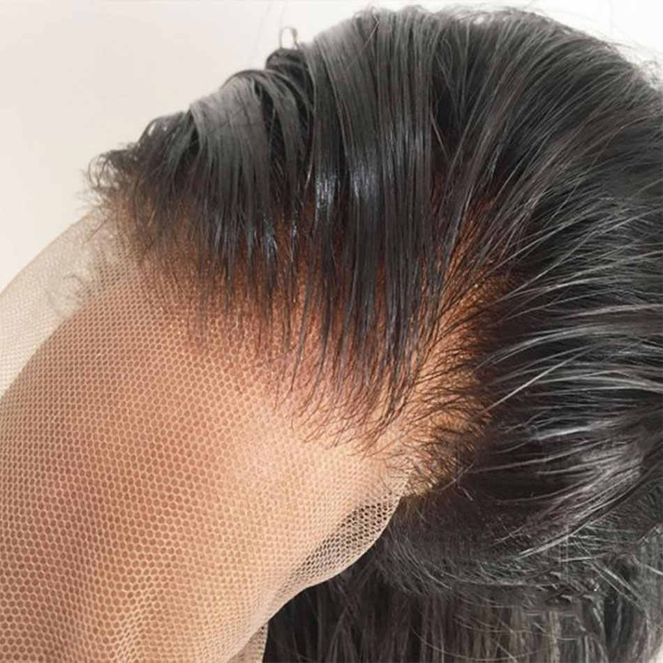 13x4 Синтетические волосы на кружеве парики, бразильские волосы Remy настоящие человеческие прямые парики из натуральных волос Д