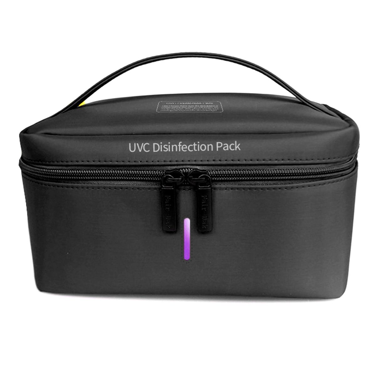 Portable UV Sterilizer Bag Uvc Disinfect Pack Clothes Sterilization Bag Phone Mask Sterilizer Box LED UVC Disinfection Lamp