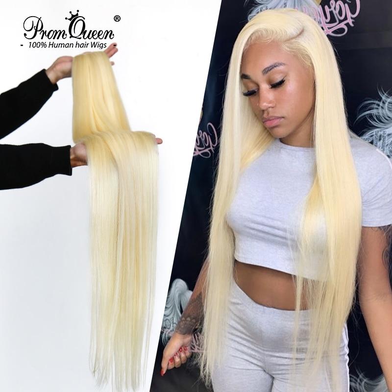 Promqueen pacote de cabelos brasileiros 613, cabelo humano 9a virgem 30 Polegada de cabelo longo liso feixes loiros