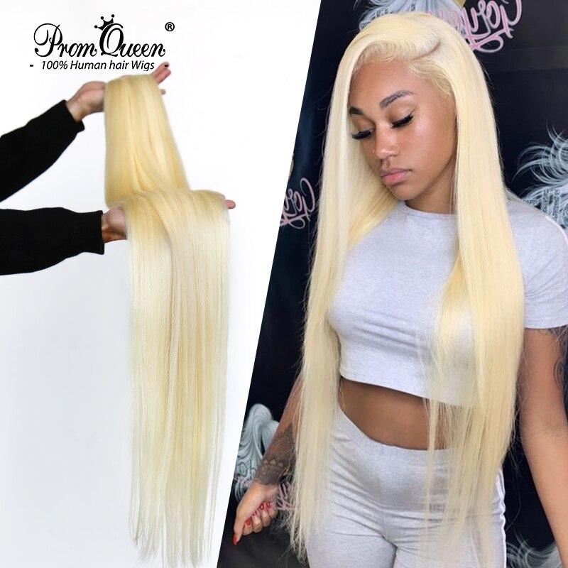Promqueen 613 paquete brasileño extensiones de cabello humano de la armadura del 9A virgen de cabello 30 pulgadas de largo paquetes de pelo rubio recto paquetes