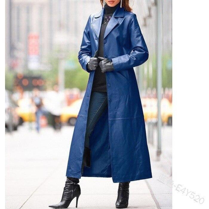 2021 Женское пальто из искусственной кожи с воротником стойкой