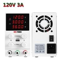 Nice Power 120V 3A Laboratory Power Supply Lab Switch Adjustable Source Fonte De Bancada Voltage Regulator USB Interface White