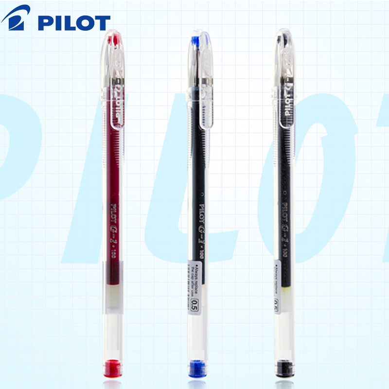 PILOT G-1 Gel Pen Student With Large-capacity Test Pen Office Signature Black Red Blue 0.5mm BL-G1-5