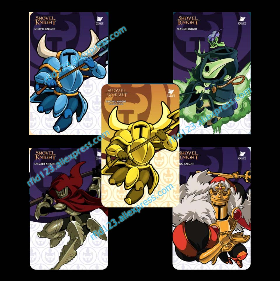 5PCS Shovel Knight Amiibo Card Shovel Knight Work For NS Games