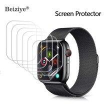 Protetor de tela para apple watch 38mm 42mm série 3 2 1 anti-risco para iwatch 40mm 44mm série 4 5 6 se filme claro tpu macio hd