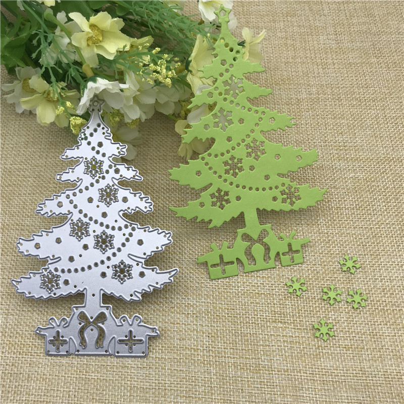2020 <font><b>Merry</b></font> <font><b>Christmas</b></font> Tree <font><b>Cutting</b></font> <font><b>Dies</b></font> Stencils For Scrapbooking Stamps Embossing Mold DIY Paper Cards Crafts Cut image