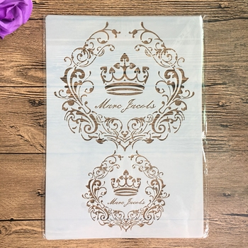 A4 size Crown Flower Wall Painting Stencils Stamp Scrapbook Album Decorative Embossing Craft Paper DIY Flower Label Stencil diy craft a4 size butterfly art stencil for wall painting scrapbooking stamping photo album decorative embossing paper cards