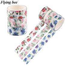 Flyingbee 15mmx5m Цветок Цветочные васи лента Роза декоративные