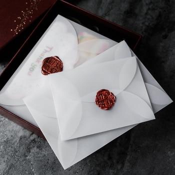 40pcs/lot Semi-transparent Sulfuric Acid Paper Envelopes For DIY Postcard /Card Storage, Wedding Invitation, Gift Packing 1