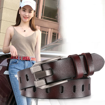 DINISITON Womens Belt Genuine Leather Belts Ladies Luxury Brand Retro Strap Fashion High Quality Cowgirl Female For Jeans