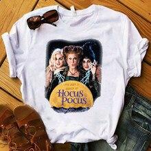 LISCN 2019 Autumn Halloween Sister Print Crew Neck Short Sleeve T-Shirt Women Summer  Tops Girls