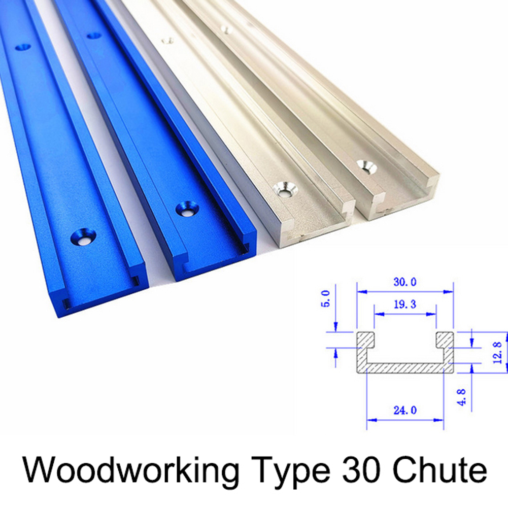 800mm T-Slot T-Tracks Miter Track For Router Table Woodworking Routers Table Bandsaw Diy Tools Aluminium Alloy Professional N22