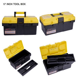 Toolbox with Tray-Compartment Box-Parts Pvc-Case Chest-Storage 1pcs Included Plastic