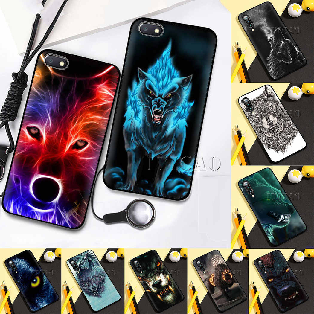 Wolf Soft Silicone Telefoon Case voor Redmi Note 4X5 6 7 8 5 6 7 8 Pro 5A 16G 32G 64G 5A Prime Cover