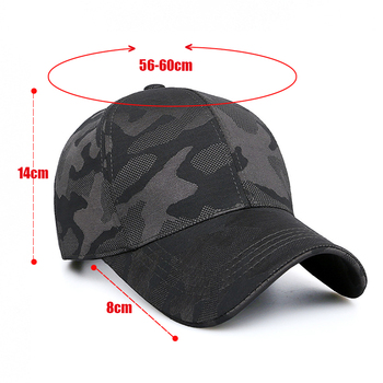 HSSEE Fashion Camouflage Cotton Men Fishing Hat Anti-rust Metal Adjustable Buckle Breathable Comfortable Outdoor Tactical Cap 3