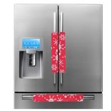 3pcs/set Christmas Decoration Refrigerator Cover Door Handle