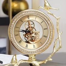 Reloj De mesa De escritorio Vintage Calendario De lujo reloj De mesa personalizado creativo Vintage Relojes De Pared Casa Vintage reloj De mesa Horloge