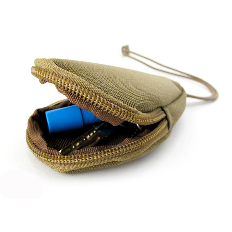 Mini Key Wallets Holder Men Coin Purses Military Army green Camo Bag Small Pocket Keychain Zipper Case Out Door Pack Black(China)