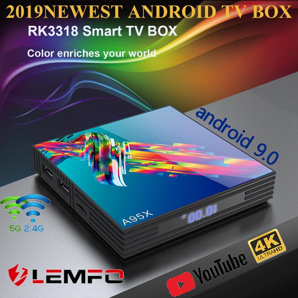A95X R3 RK3318 9.0 Android TV Box 4GB RAM 64GB 32GB 4K 2.4G5G  WiFi Support IPTV Google Netflix Youtube Media Player Smart TV  BoxSet-top Boxes