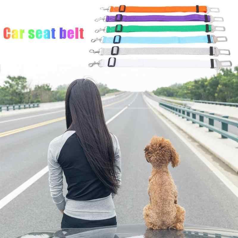 Cane Cablaggio Del Cane Del Fascio Auto Cintura di Sicurezza Cintura di Sicurezza Dell'animale Domestico di Piombo Guinzaglio per Cani di Piccola Taglia Media Clip di Viaggi Pet Regolabile di Sicurezza Pet proteggere Strumento