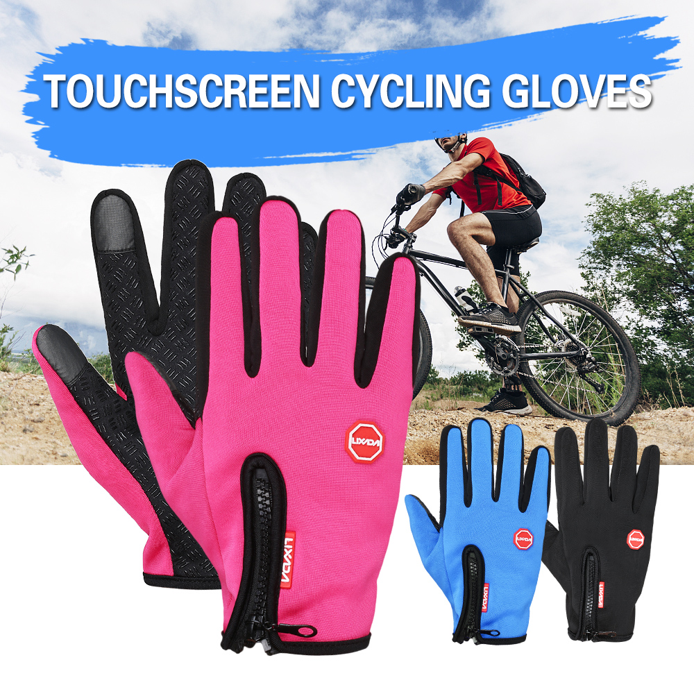 Lixada Touchscreen Cycling Gloves Windproof Winter Outdoor Sports Bike Riding Gloves Hand Warmers Skiing Motorcycle Racing