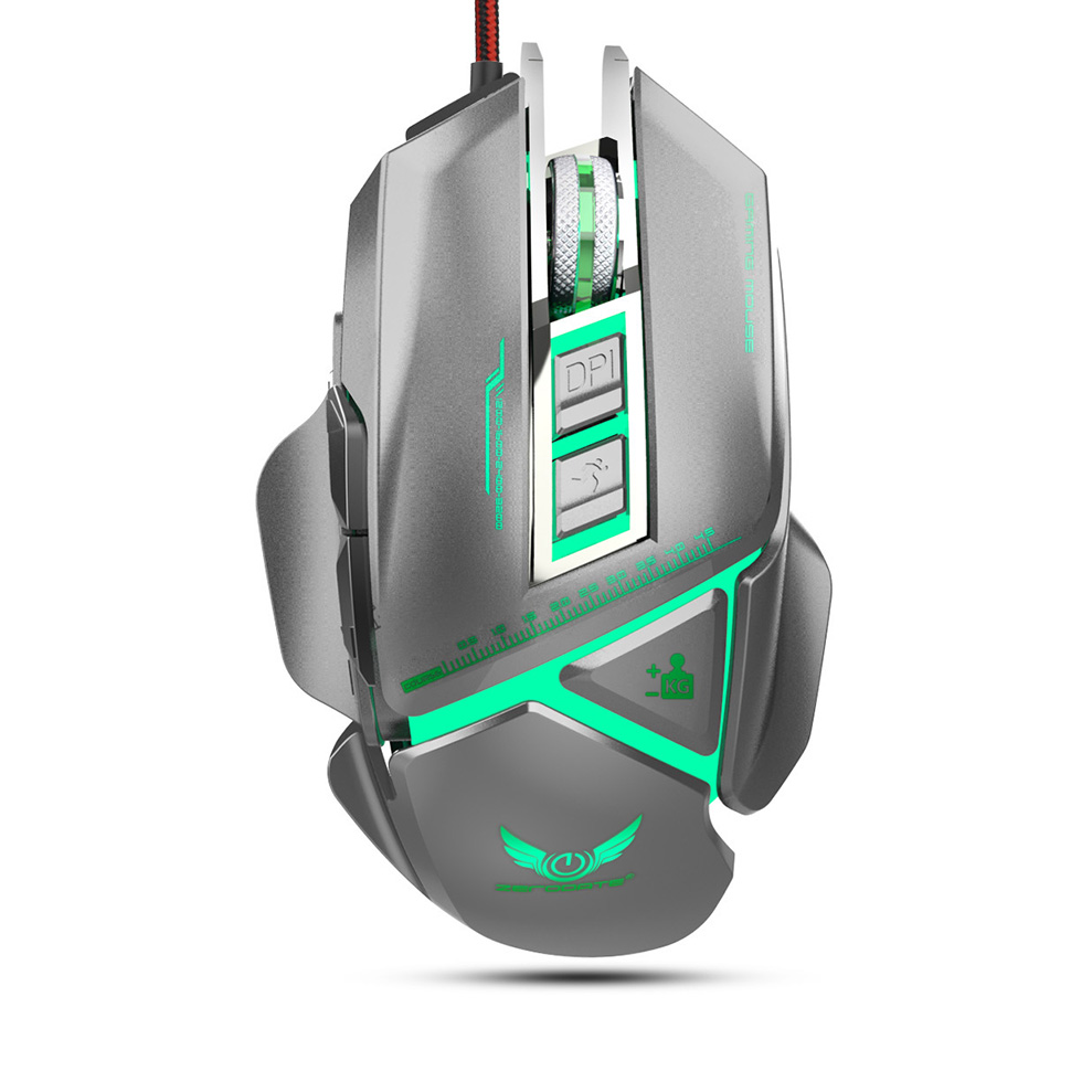 EasySMX X400 Optical Gaming Mouse 3200 DPI 11 Buttons A3050 Sensor Ergonomic Mouse For PC Gamers LOL PUBG Fornite Overwatch