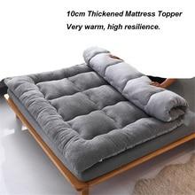 Mattress Topper Bedroom-Furniture Tatami 10cm Berber Thickness-Down Soft Warm Fleece