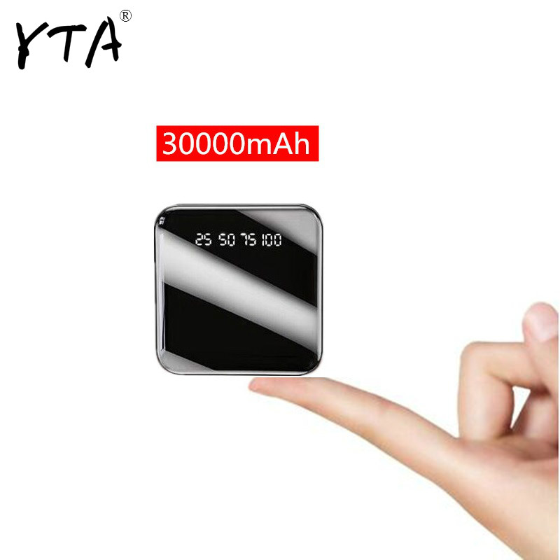 Hot sale 30000mAh Mini Power Bank Waterproof Charger Dual USB External Charger Powerbank for Xiaomi mi iPhone 8 x Samsung image