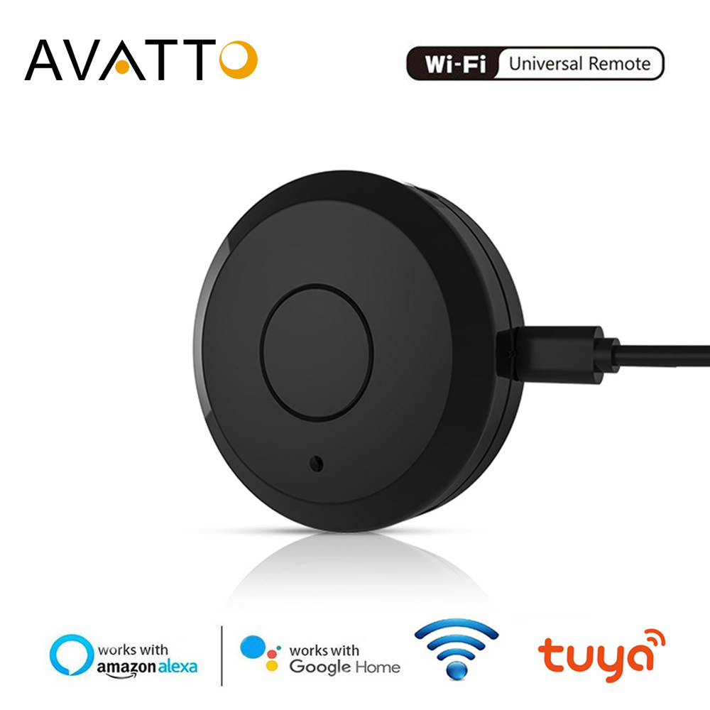 AVATTO WIFI IR Remote Controller,Smart Universal 2.4G Remote Voice Control With Alexa,Google Home Infrared Smart Home Automation