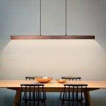Nowoczesna jadalnia LED żyrandol pokojowy oświetlenie restauracja w stylu nordyckim długie wiszące światła lampy biurowe Bar oświetlenie lampy studyjne