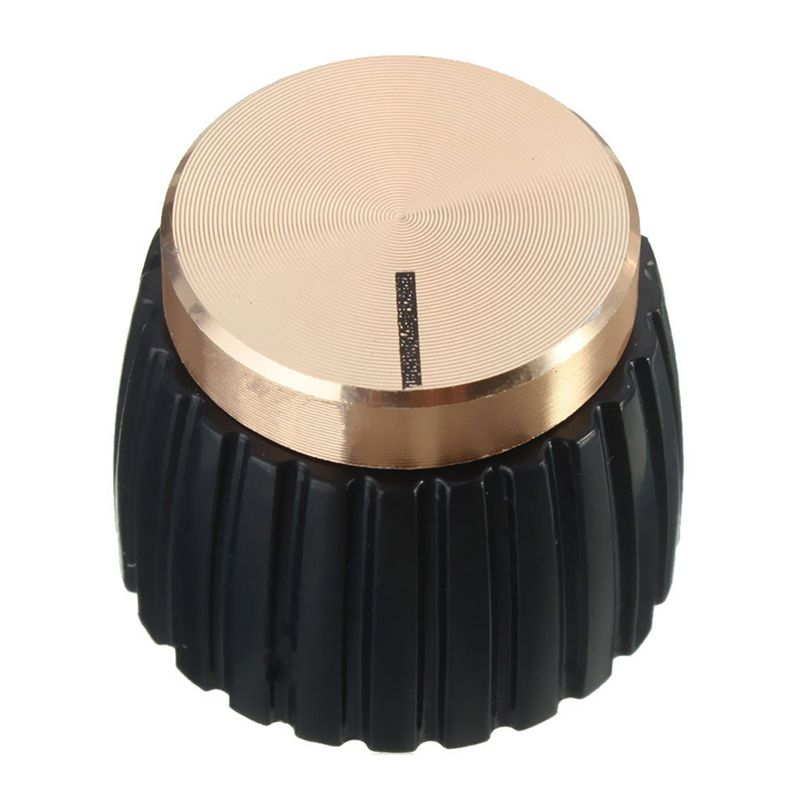 10x Guitar AMP Amplifier Knobs Push-on Black+Gold Cap for Marshall Amplifier