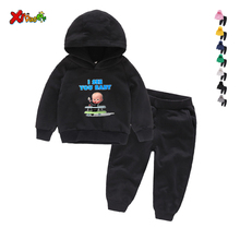 цена на Children Clothing Set Baby's Sets 100% Cotton Kids Hoodies Boy Outfit Sports Suit 2-9T Boys Girls Suits Cotton Child Clothes