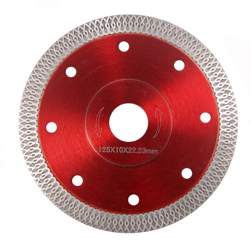 125mm Super Thin Red Diamond Cutting Disc For Cutting Tiles Porcelain Stoneware Granite Rotary Tool Diamond Discs